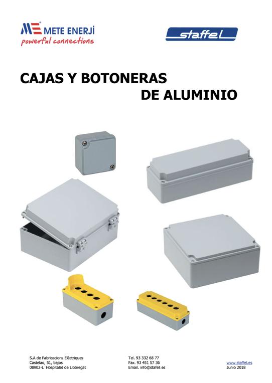 Cajas y botoneras de Aluminio